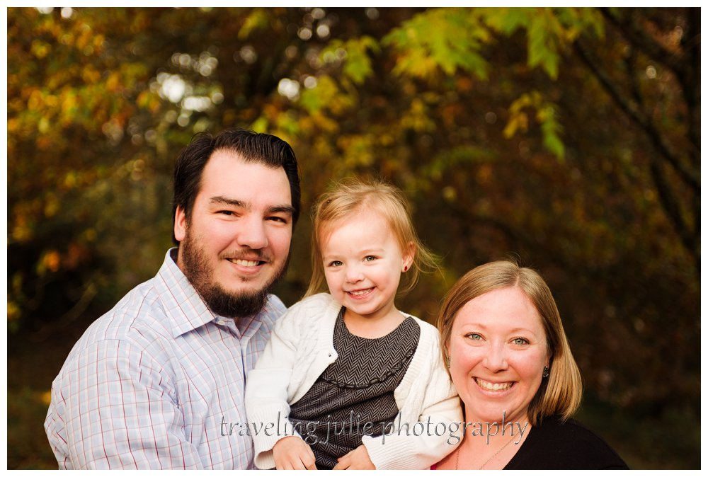 Hoyt Arboretum smiling family