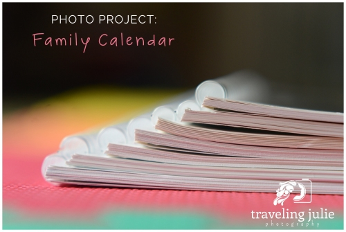 family calendar photo project photography